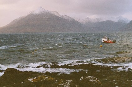 Stormy sea at Elgol, Isle of Skye