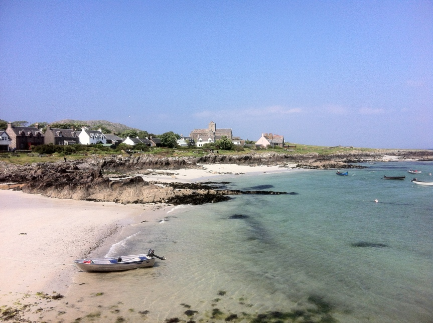 Abbey above the beach on the Isle of Iona