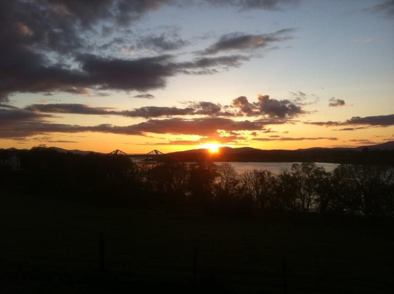Sunset over Connel Bridge