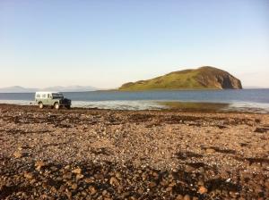 On the tidal causeway to Davaar Island
