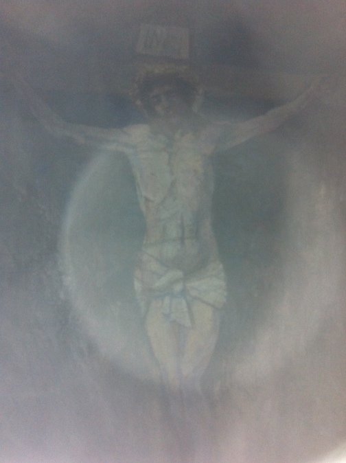 Crucifix inside the cave on Davaar Island