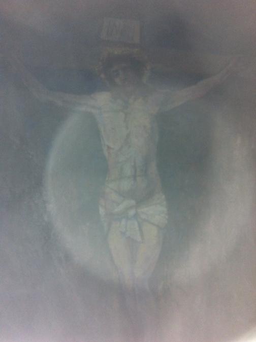 Crucifix inside the cave on Davaar Island