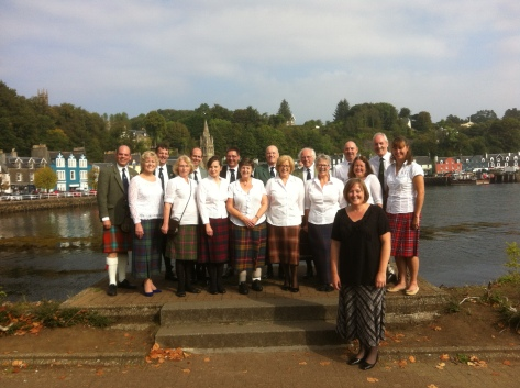 Taynuilt Gaelic Choir at the local Mod in Tobermory