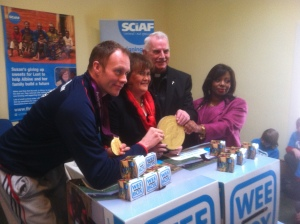 Celebrities launching SCIAF's annual wee box campaign