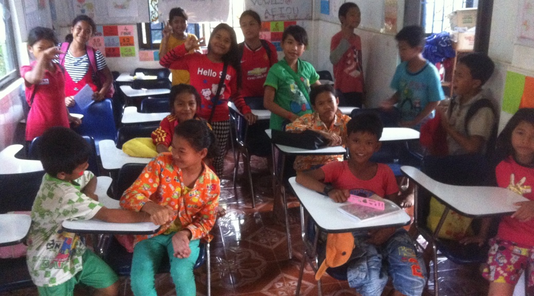 Cambodian after school class