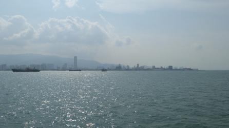 Approaching Georgetown, Penang Island