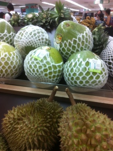 Durian fruit (front)
