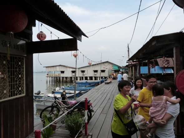 Chinese floating villages or clan jetties