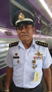 Our friendly conductor on the Bangkok to Butterworth sleeper