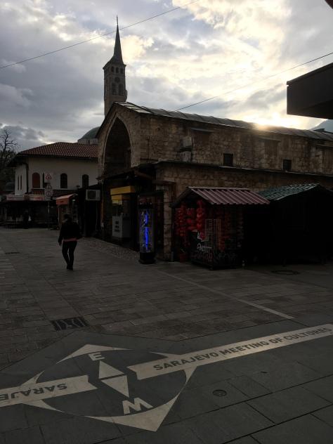 Sarajevo city centre meeting of cultures