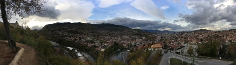 Sarajevo panoramic view